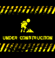 Under construction - grunge with icon vector image