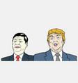 xi jinping and donald trump vector image