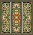 flyers set with colored nature pattern vector image