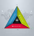 Template for your business presentation vector image vector image