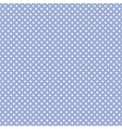 Tile pattern white polka dots on blue background vector image vector image