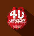 40 Years Anniversary Celebration Design vector image