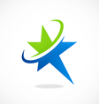 star orbit business abstract logo vector image