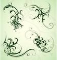 Floral swirls set vector image vector image