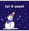 Let it snow blue vector image