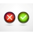 3d buttons yesno vector image