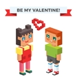 Boy and girl happy family couple in love vector image vector image