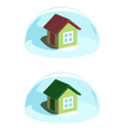 Green house under the blue dome protection vector image