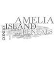 Amelia island bed breakfast text word cloud vector image