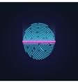 Fingerprint electronic scanning identification vector image