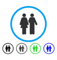 human couple rounded icon vector image