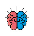 mental health smart brain line icon vector image