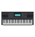 music keyboard instrument realistic icon vector image