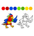parrot coloring book vector image