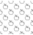 pattern with thin line apples vector image