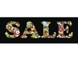 Sale Design print background vector image