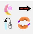Set of icons sex shop vector image