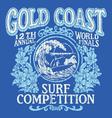 Vintage Surfing Tshirt Graphic Design vector image