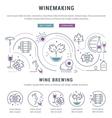 Winemaking Web Banner 5 vector image