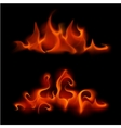 Set of Different Red Scarlet Fire Flame Bonfire vector image