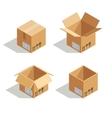 Cardboard open box vector image