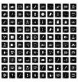 100 webdesign icons set grunge style vector image