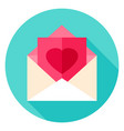 love post circle icon vector image