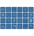 Icons set of the lines vector image vector image