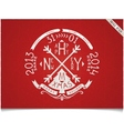 Happy new year vintage lettering design vector image