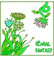 flower fantasy vector image