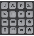 metal texture buttons with replaceable computer vector image