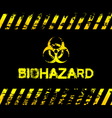 Grunge biohazard vector image