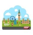 London England Urban Background vector image
