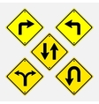 signs installation of signs directing vector image vector image