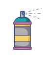 aerosol spray can paint art vector image