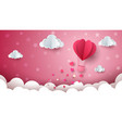 heart cloud air ballon vector image