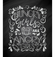 Hungry Angry Girls vector image