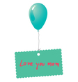 Love you mom card vector image