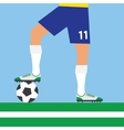 man legs playing football vector image