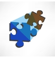 Puzzles piece icon Flat design style vector image