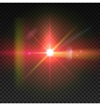 Realistic sun burst with flare Lens flare vector image
