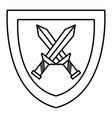 shield with warrior sword vector image