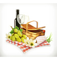 Time for a picnic nature outdoor recreation a vector image
