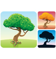 tree square landscapes vector image