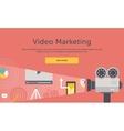 Video Marketing Concept for Banner Presentation vector image