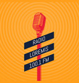 vintage microphone radio on vector image