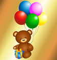 Bear with balloons vector image vector image