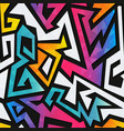 rainbow geometric seamless pattern vector image
