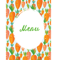 Menu template for vegetarian cafe vector image vector image