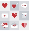 mail love icons vector image vector image